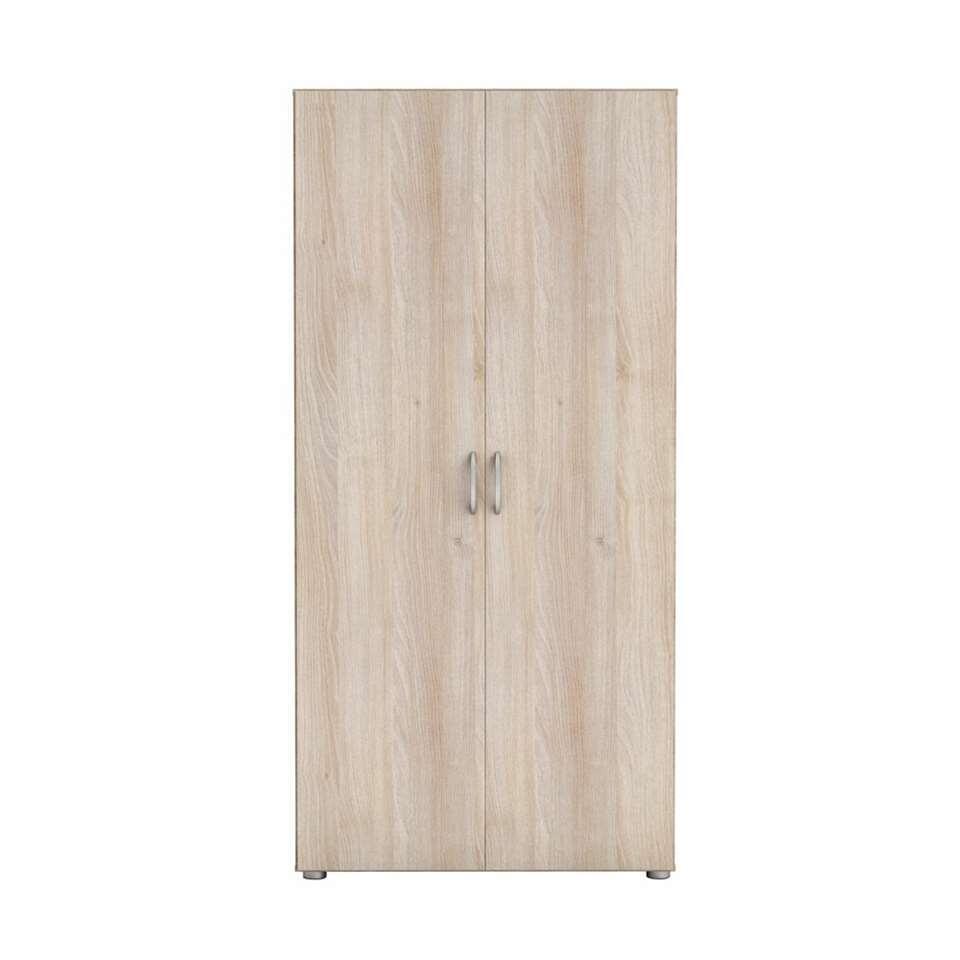 Demeyere kledingkast Zippie 2 - acaia - 51,5x80,4x166,6 cm - Leen Bakker