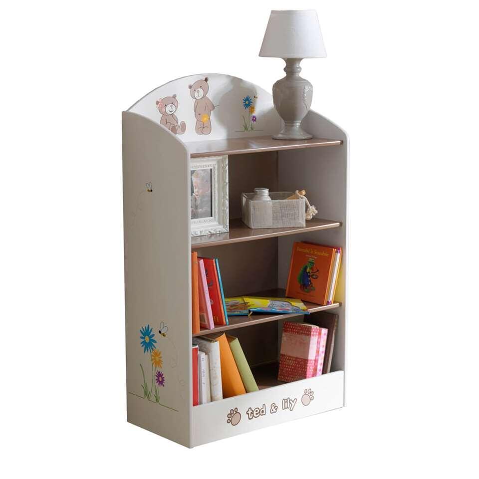 Demeyere boekenkast Ted & Lily - beige/bruin - 100x60x30 cm - Leen Bakker