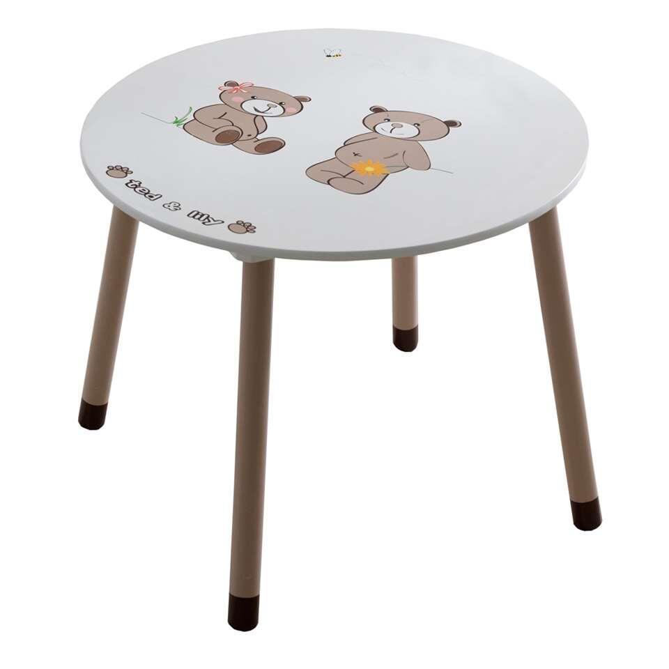 Demeyere tafeltje Ted & Lily - beige/bruin - Ø60x50 cm - Leen Bakker