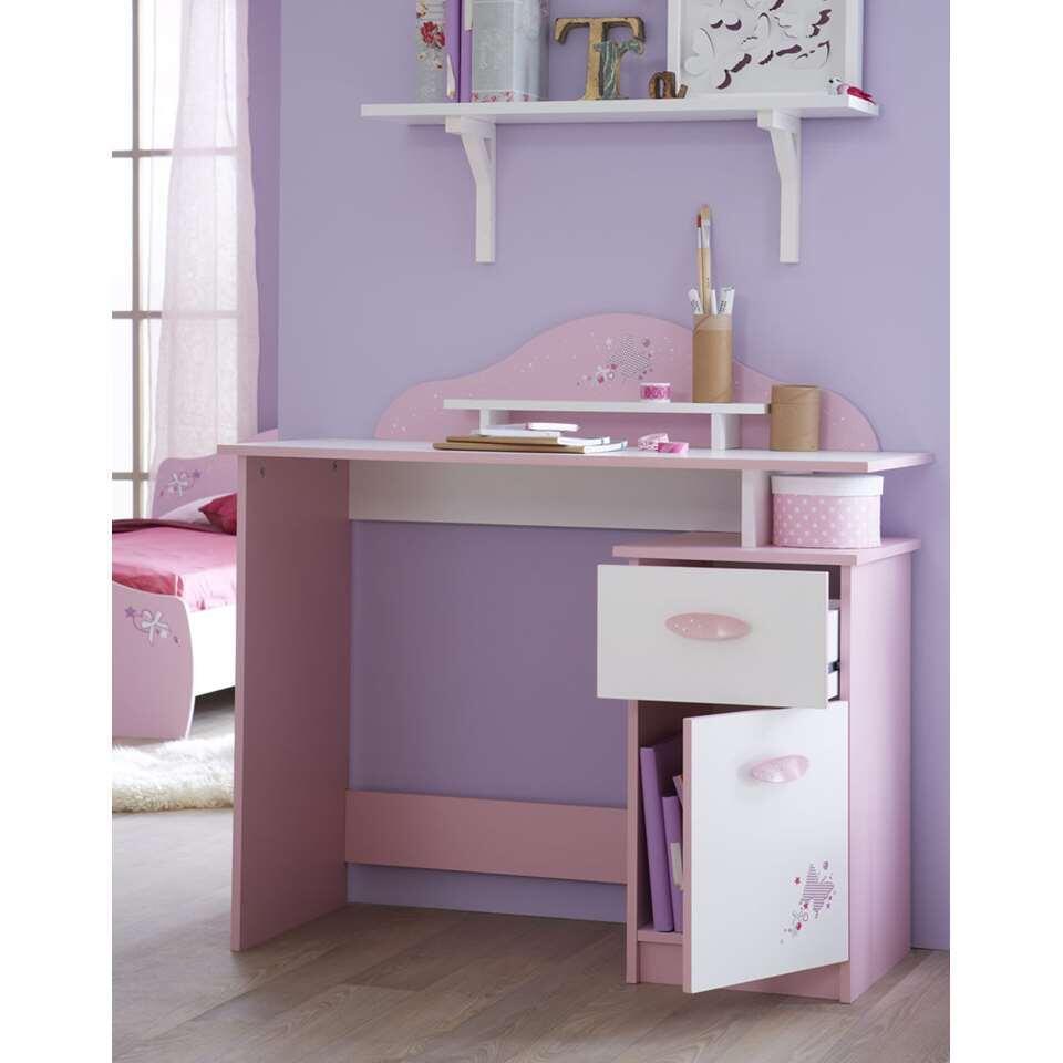 Demeyere bureau Papillon - roze - 95,7x100,7x50,1 cm - Leen Bakker