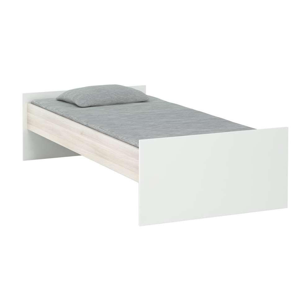 Demeyere bed Heidi - acacia/wit - 90x200 cm - Leen Bakker