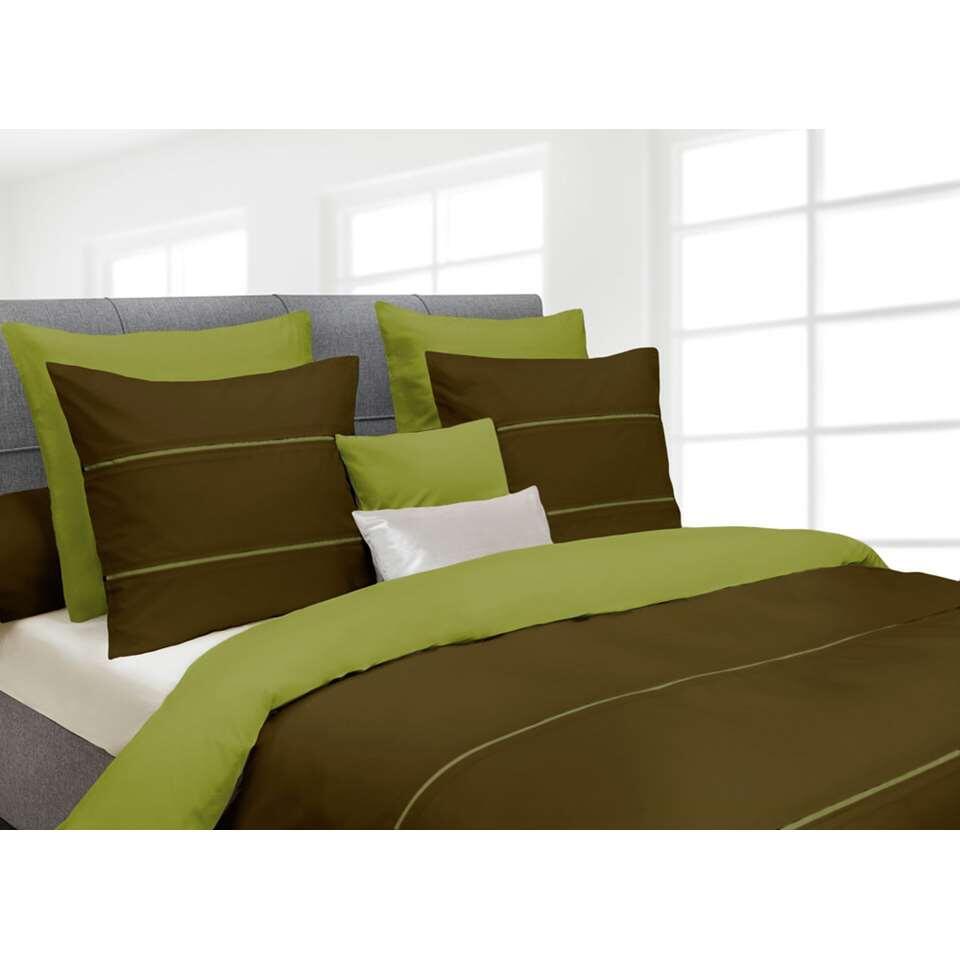 Heckett & Lane dekbedovertrek Jason - groen - 200x220 cm - Leen Bakker