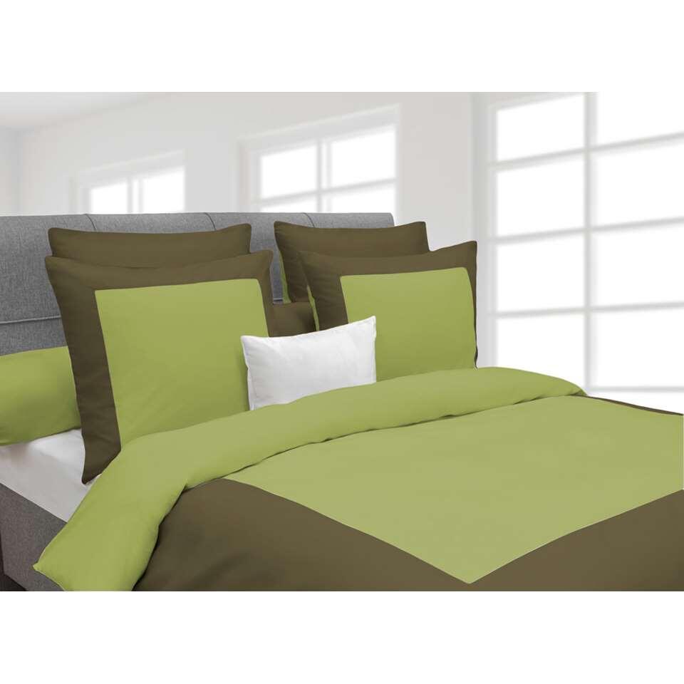 Heckett & Lane dekbedovertrek Lina - groen - 200x220 cm - Leen Bakker