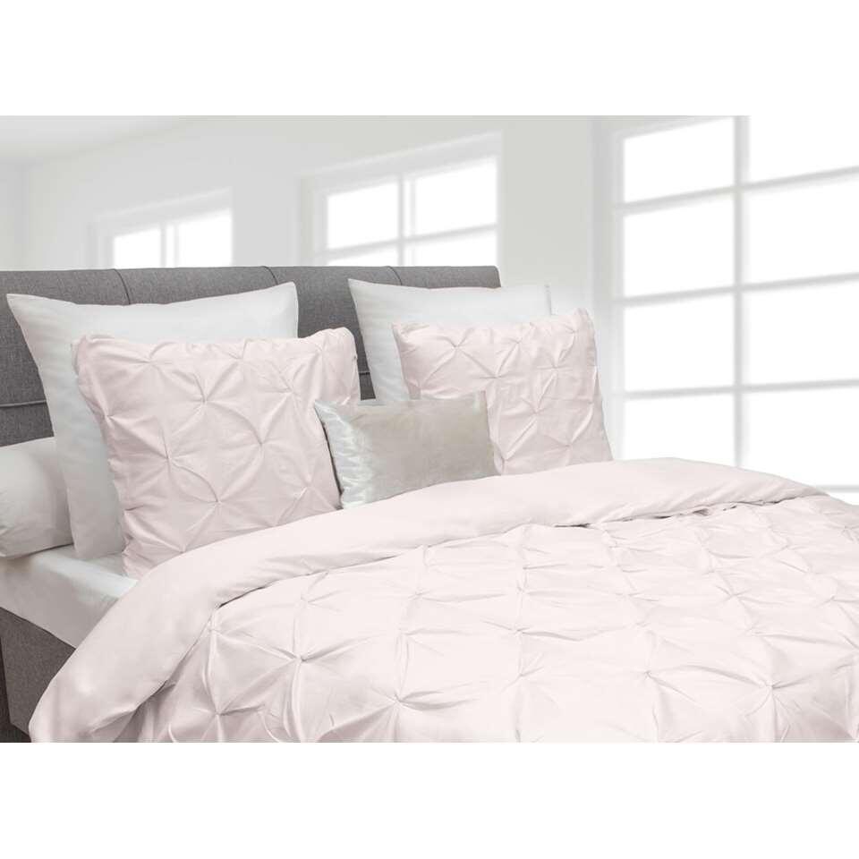 Heckett & Lane dekbedovertrek Cromer - roze - 260x220 cm - Leen Bakker