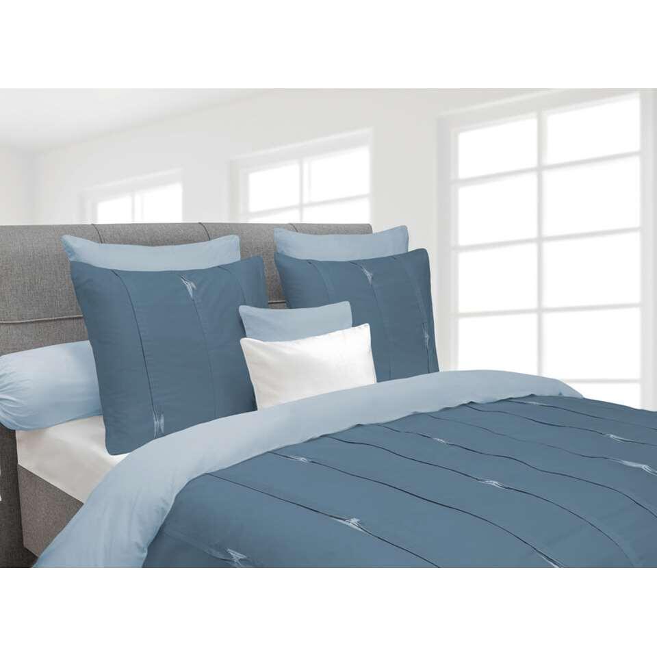 Heckett & Lane dekbedovertrek Hopper - blauw - 200x220 cm - Leen Bakker