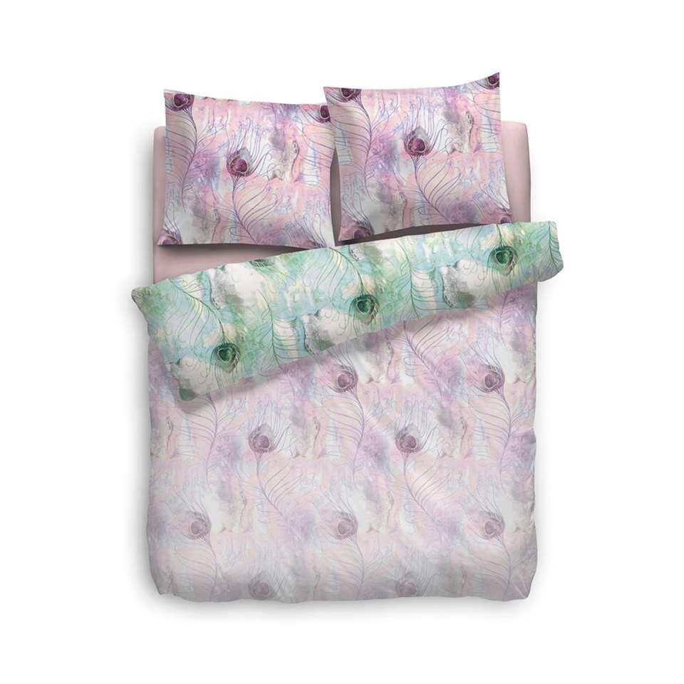 Heckett & Lane dekbedovertrek Irene - roze - 240x220 cm - Leen Bakker