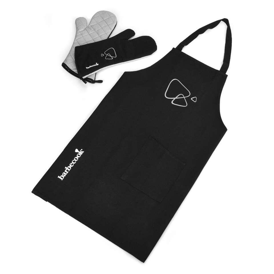 Barbecook schort en lange handschoenen - zwart - Leen Bakker