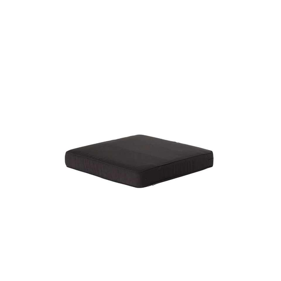 Hartman loungekussen Havana Dark Grey - donkergrijs - 75x75x10 cm - Leen Bakker