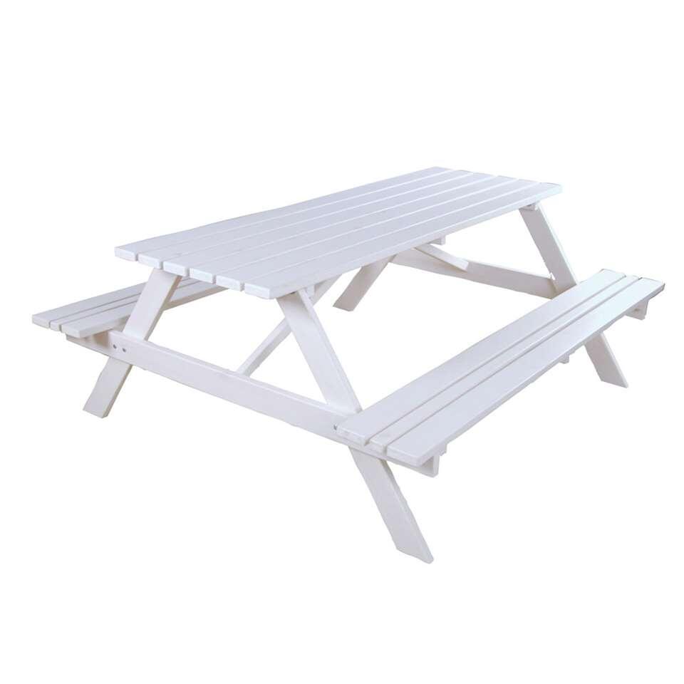 SenS-Line picknickbank - wit - 73x150x150 cm - Leen Bakker