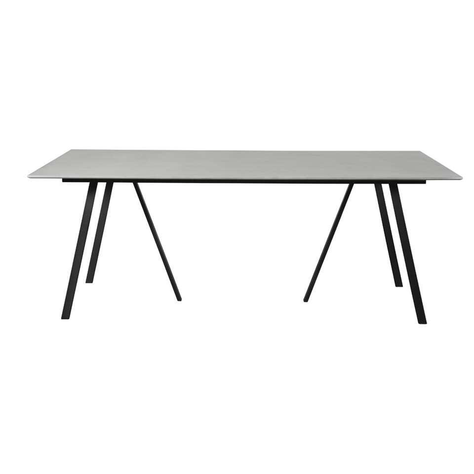 Envy tafel Lem - zwart - 200x100x74 cm - Leen Bakker