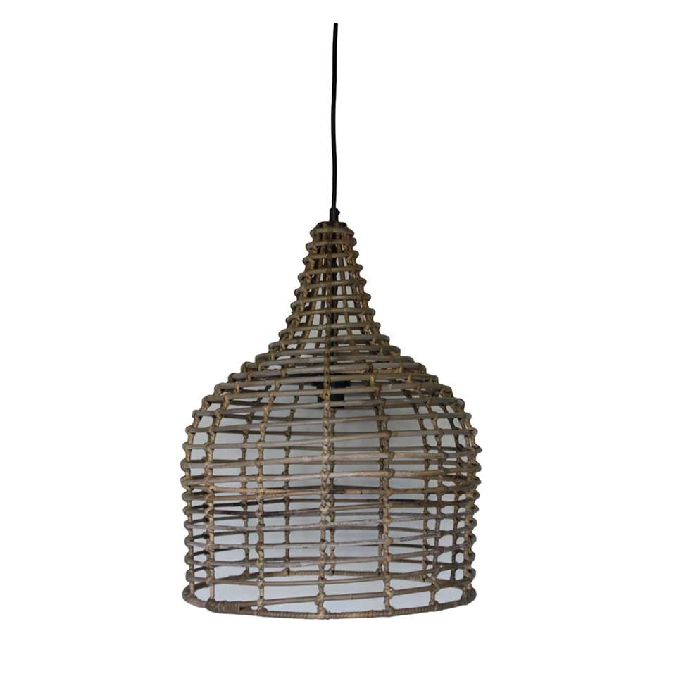 HSM Collection hanglamp - naturel - Ø43x54 cm - Leen Bakker
