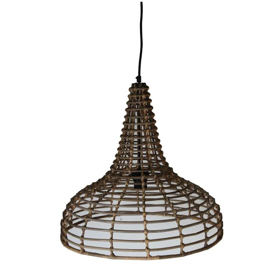 HSM Collection hanglamp - rotan - naturel - 50x48 cm