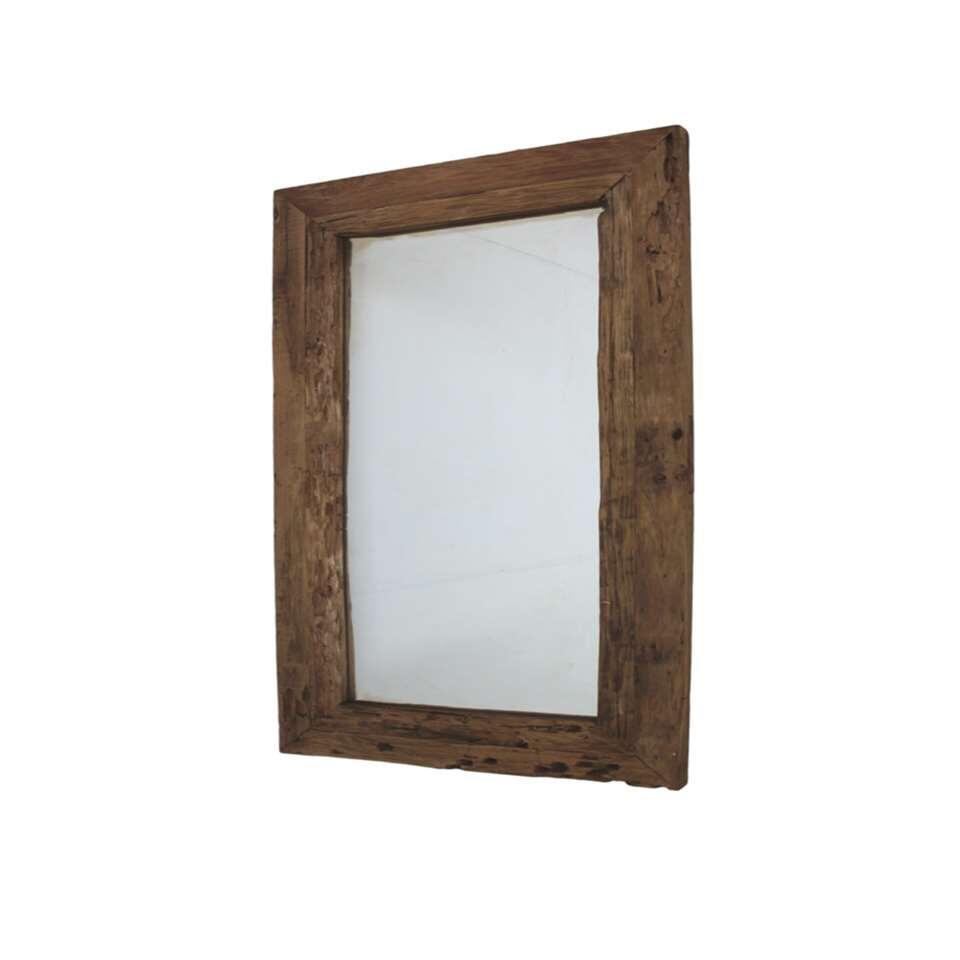 Spiegeltje, spiegeltje in het land Wat is het mooiste object aan de wand? Klopt, dat is zonder twijfel deze HSM Collection spiegel met mooie teakhouten lijst!
