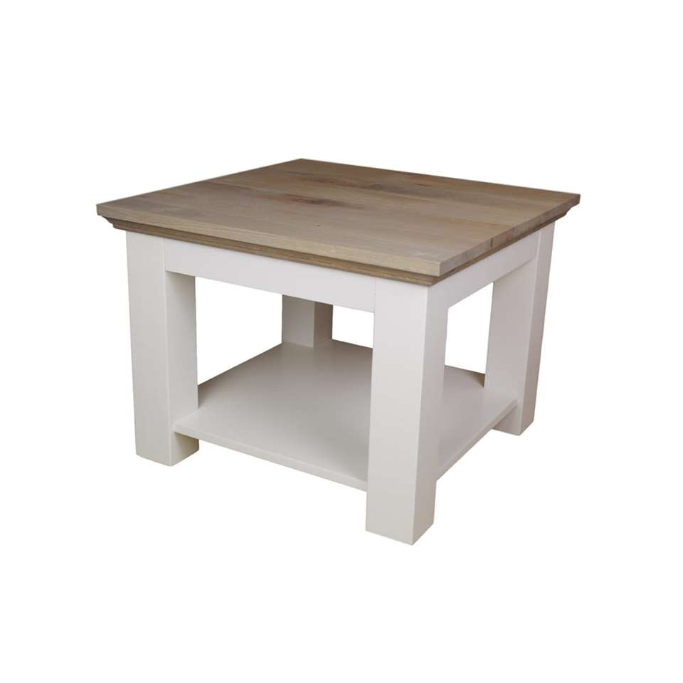 Salontafel Wit Vierkant.Hsm Collection Salontafel Provence Grijs Eiken Wit 60x60x45 Cm