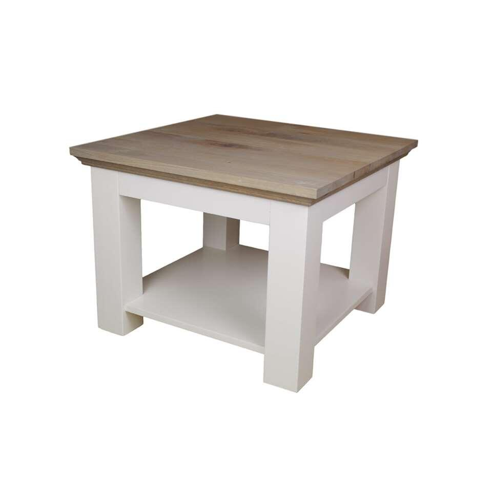 HSM Collection salontafel Provence - grijs eiken/wit - 60x60x45 cm - Leen Bakker
