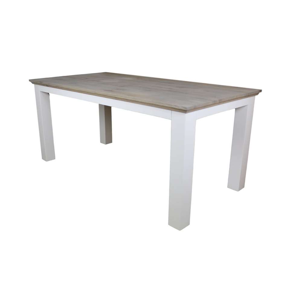 HSM Collection eettafel Provence - grijs/wit - 180x90 cmt - Leen Bakker