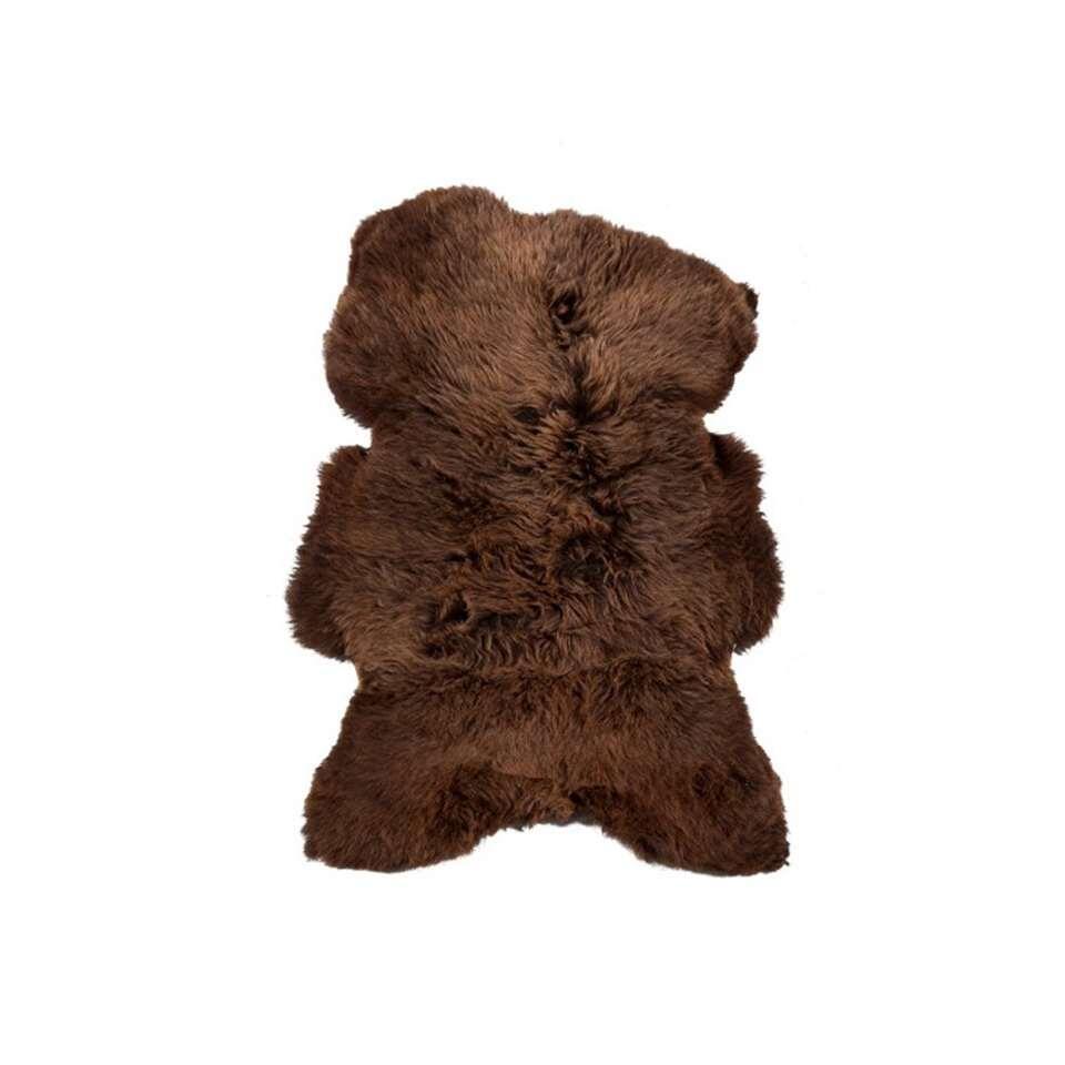 HSM Collection vloerkleed schapenhuid - naturel bruin - Leen Bakker