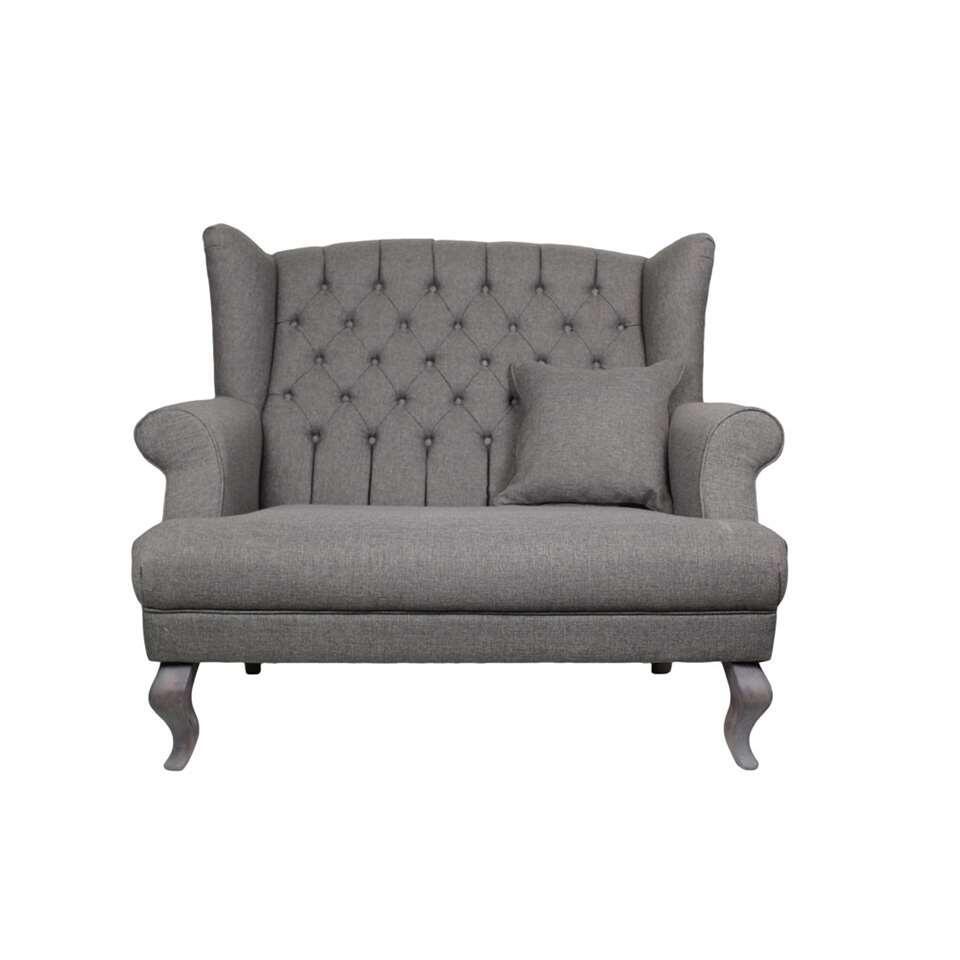 HSM Collection sofa Joly 2-zits - lichtgrijs - Leen Bakker