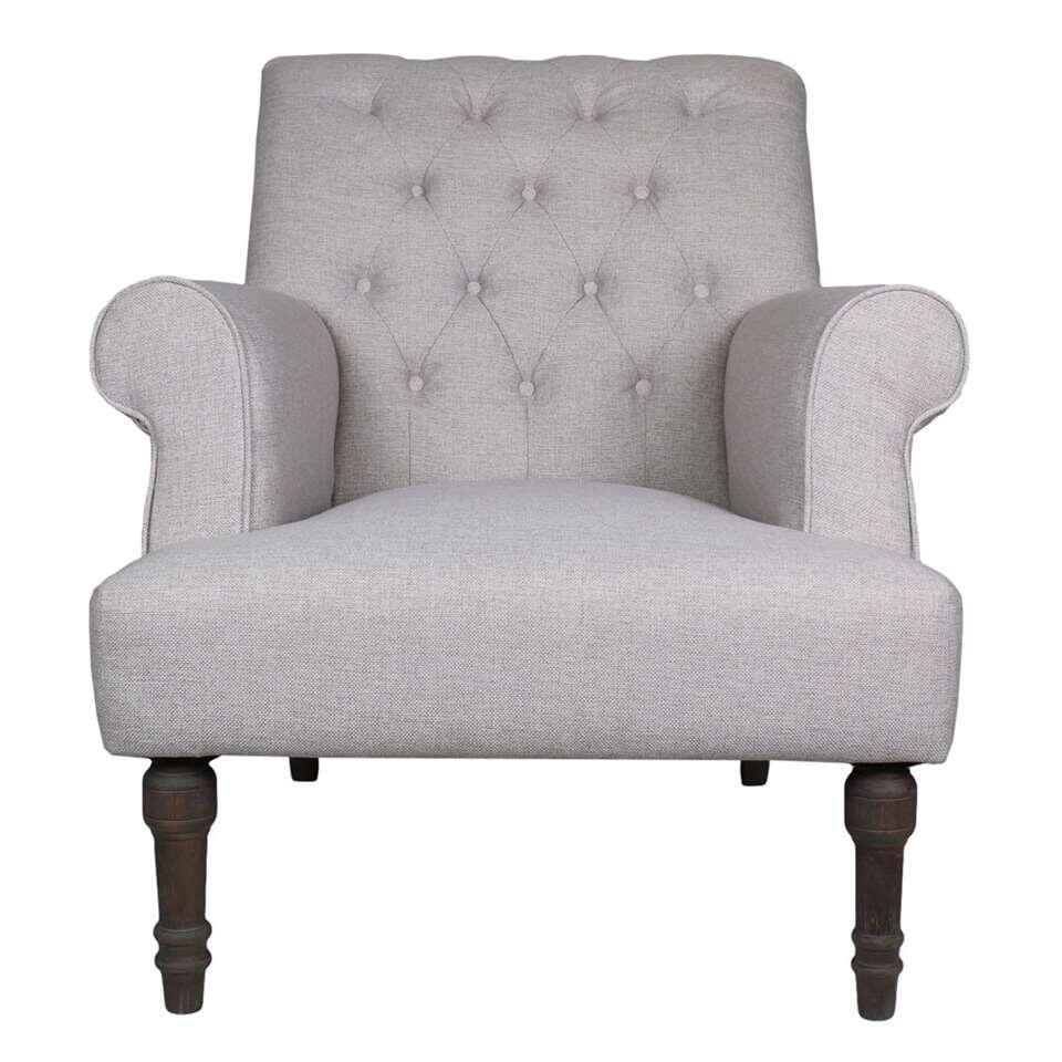 HSM Collection fauteuil Cannes - crème - Leen Bakker