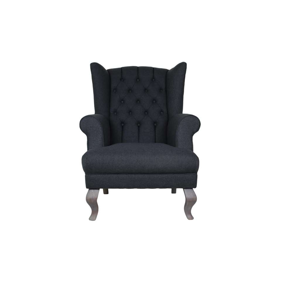 HSM Collection fauteuil Joly - antraciet - Leen Bakker