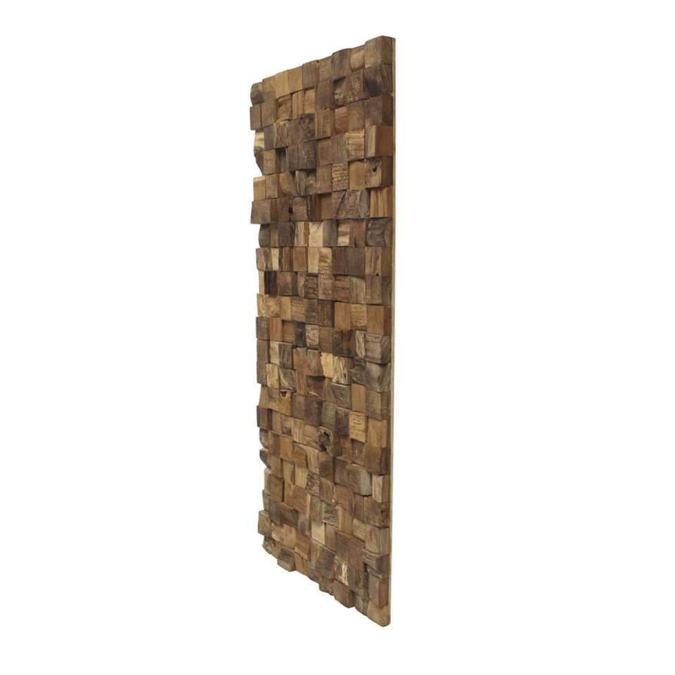 Hsm collection wanddecoratie hout naturel for Muurdecoratie buiten