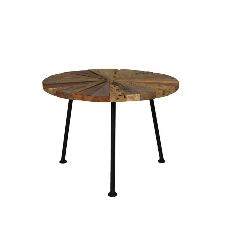 HSM Collection salontafel Sun old wood - Ø60x45 cm - Leen Bakker