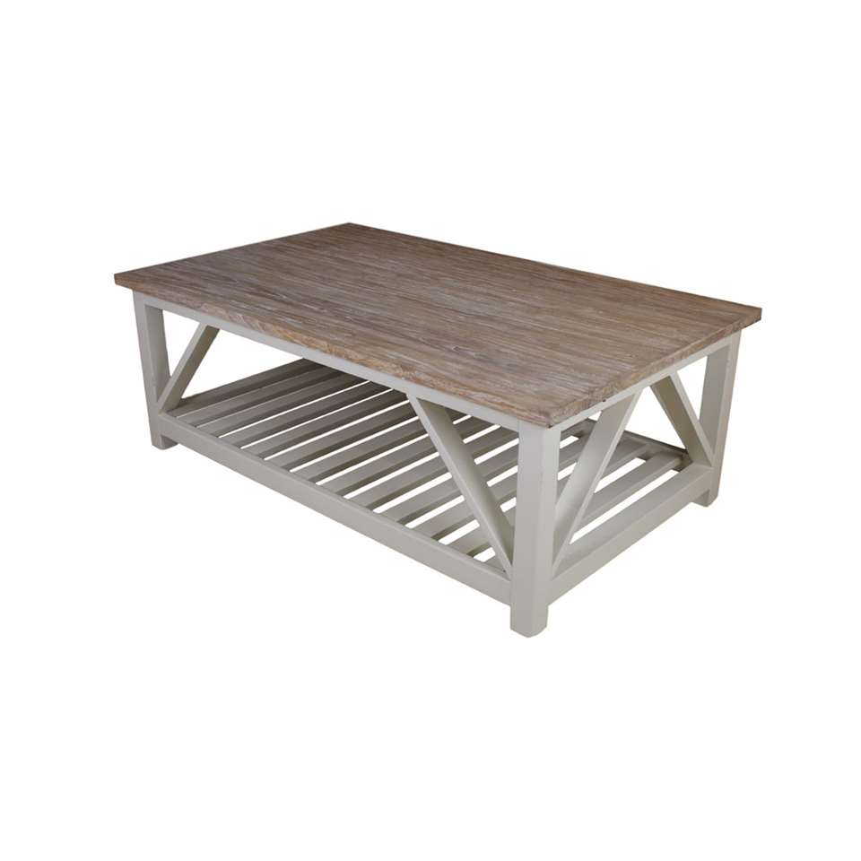 HSM Collection salontafel Oldwhite - white wash - 125x75x45 cm - Leen Bakker
