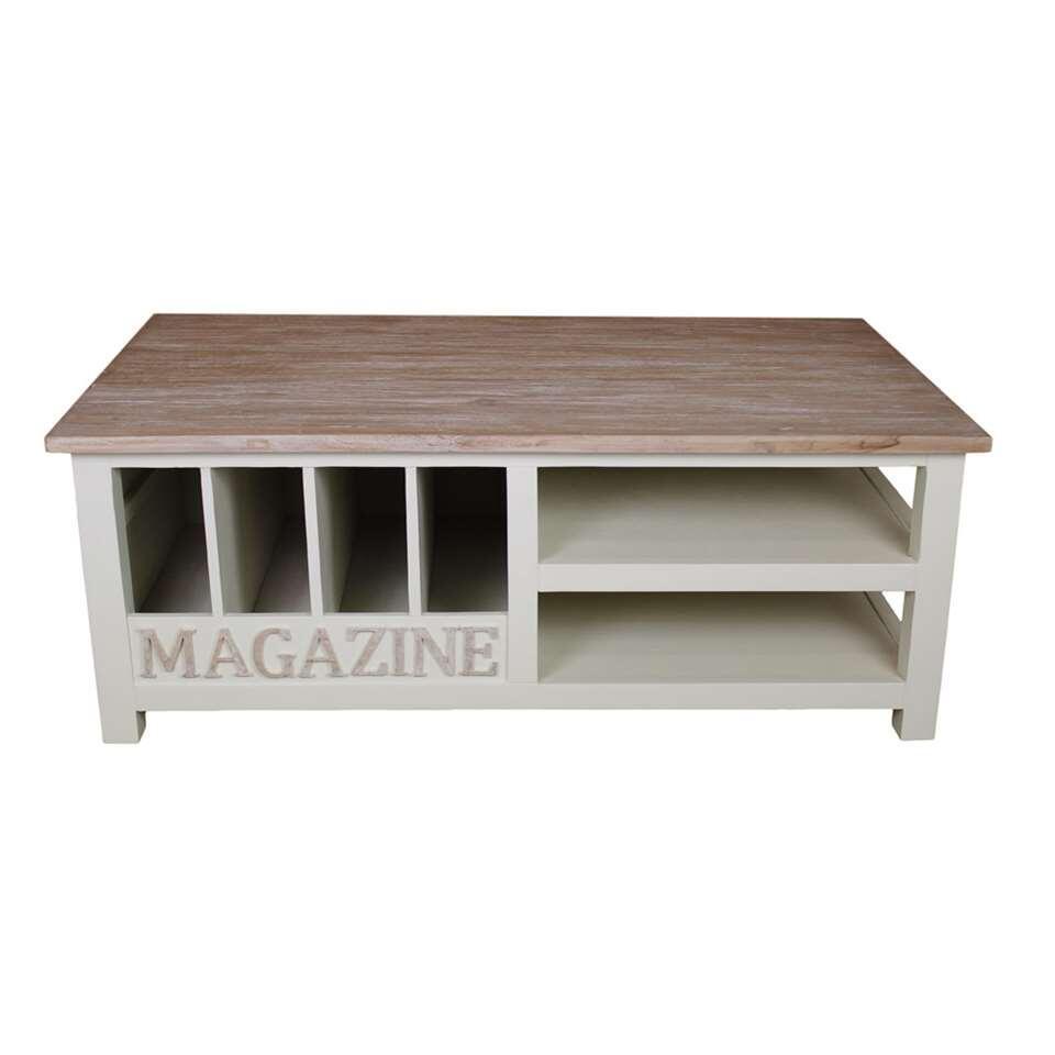 HSM Collection salontafel Oldwhite - white wash - 120x70x45 cm - Leen Bakker