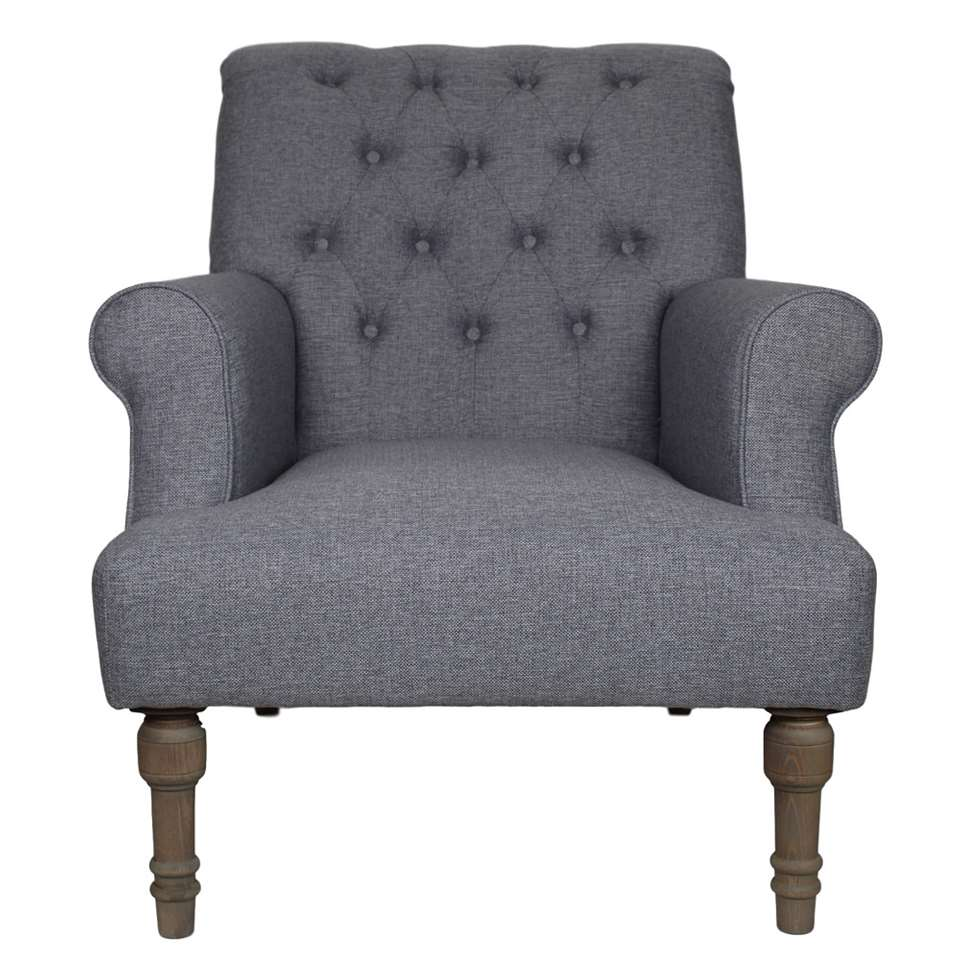 HSM Collection fauteuil Cannes - lichtgrijs - Leen Bakker