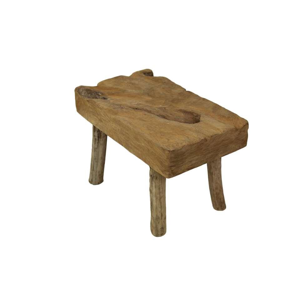 HSM Collection kruk Rustic - blank - 25x43x30 cm - Leen Bakker