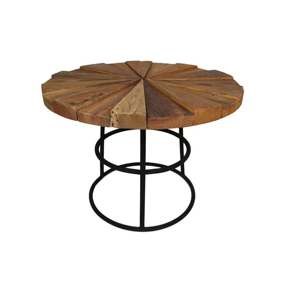 HSM Collection salontafel Sun - old wood mix - Ø60x47 cm - Leen Bakker