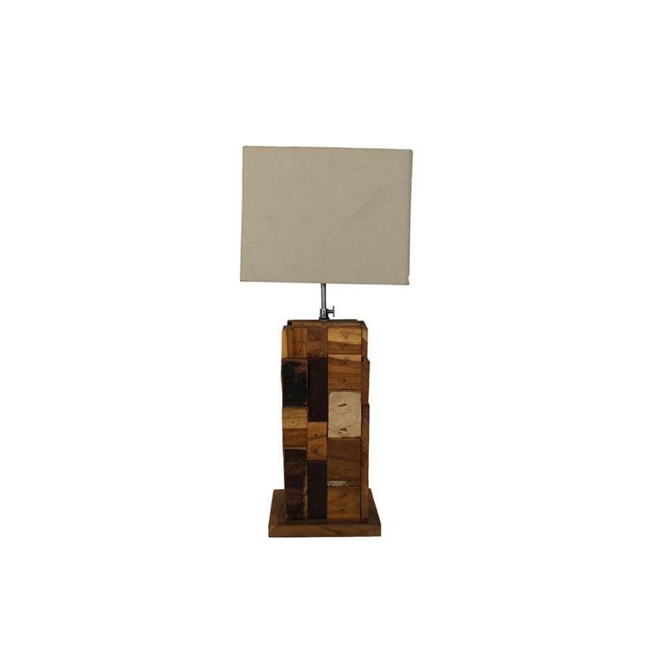 Uitzonderlijk HSM Collection tafellamp - hout - 18x18x38 cm UL69