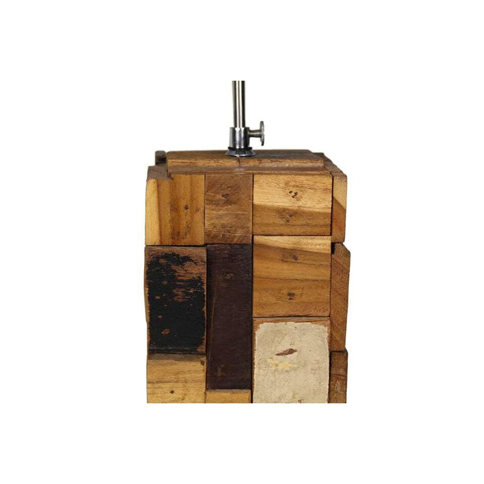 HSM Collection tafellamp - hout - 18x18x38 cm - Leen Bakker