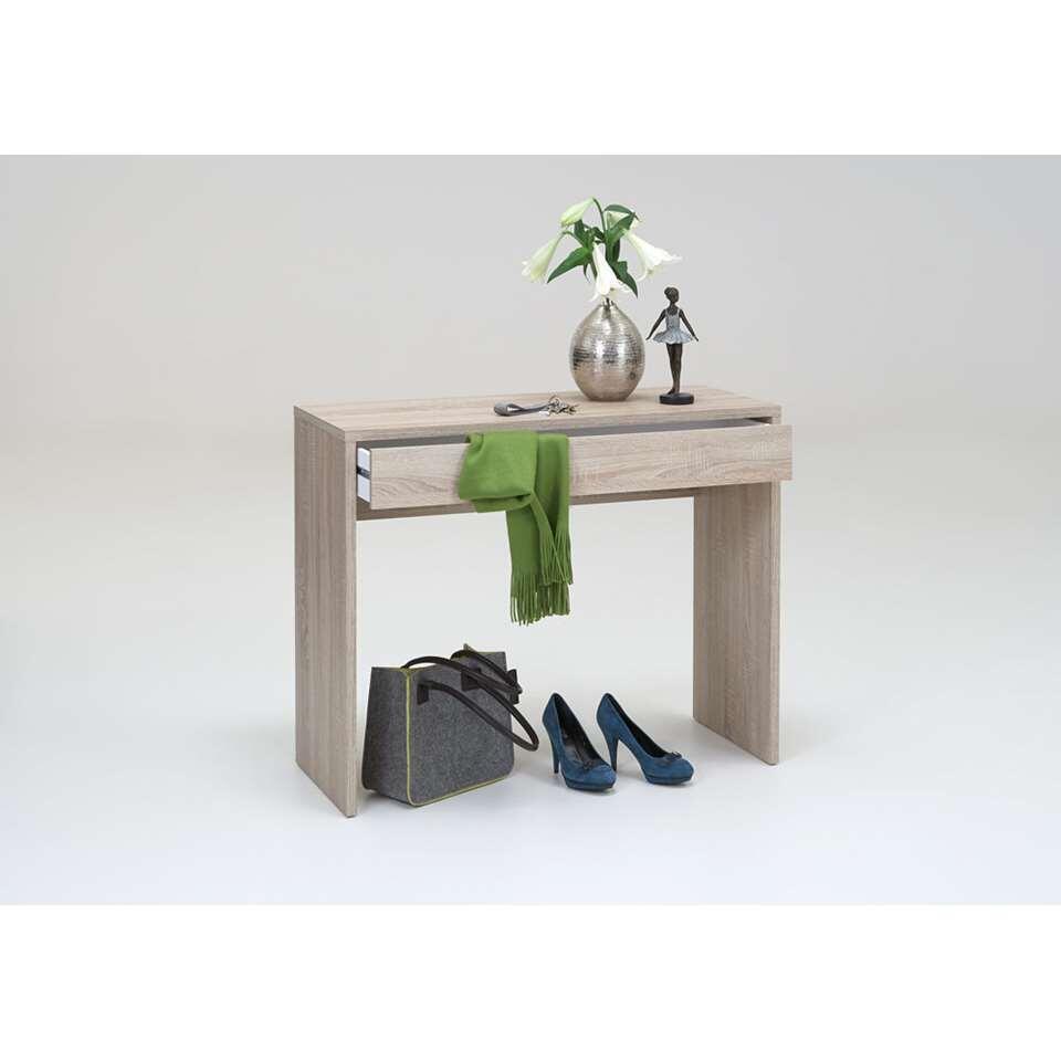Bureau Checker met een lade. Kan ook worden gebruikt als haltafeltje.