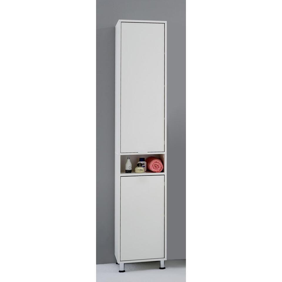 Badkamerkast Zamora - wit - 192,5x37x33 cm - Leen Bakker