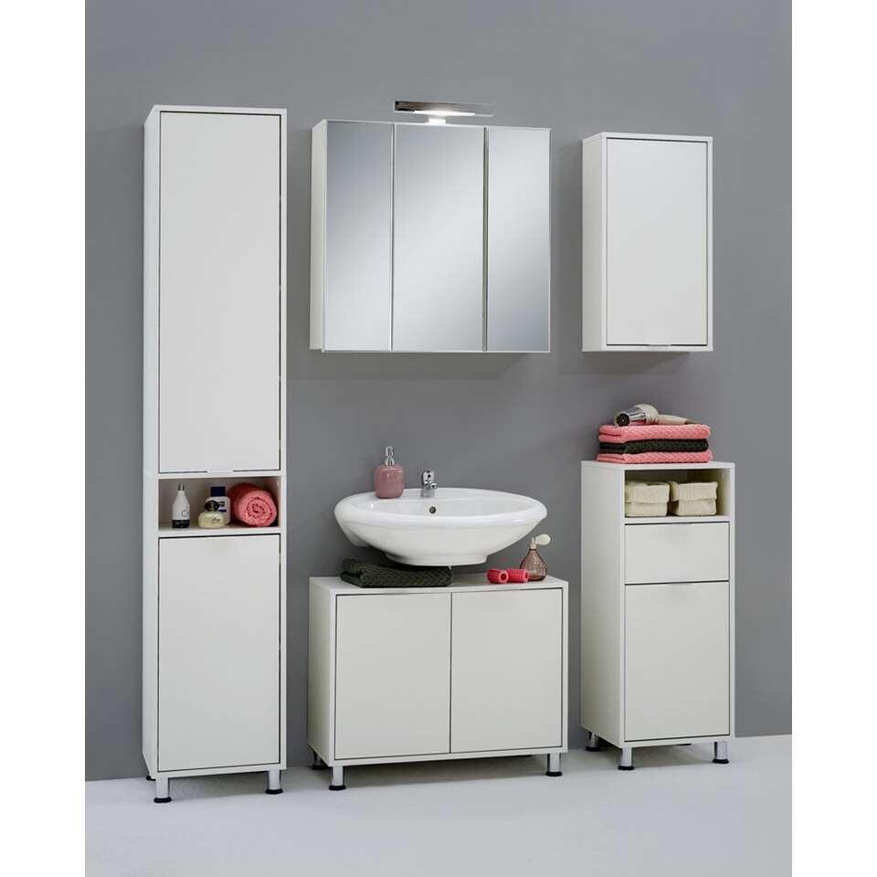 badkamer spiegelkast zamora wit 69x70x19 cm