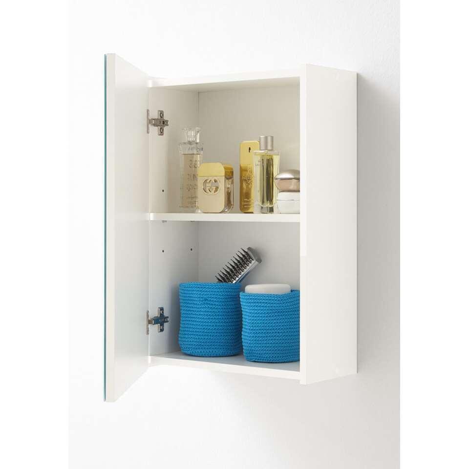 Badkamerkast muur Elda is een kast met spiegel met 1 deurtje.