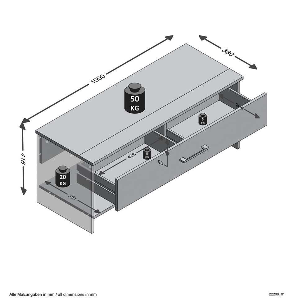 Schoenenkast Laag Model.Halbank Schoenenkast Alan 4 Zandkleurig 42x100x38 Cm