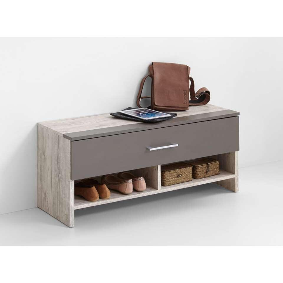 Halbank/schoenenkast Alan 4 - zandkleurig - 42x100x38 cm - Leen Bakker