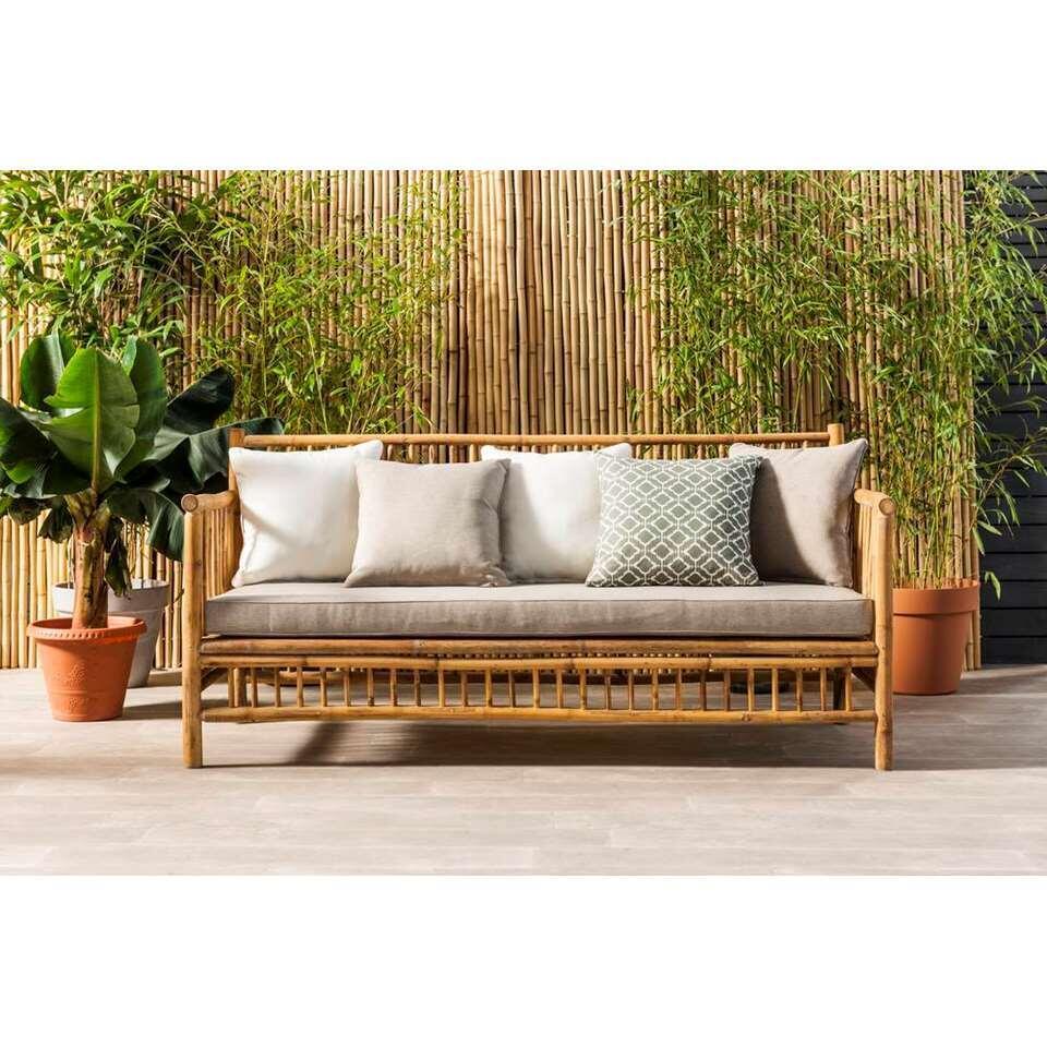 Exotan bank Bamboo - bruin (incl. kussens) - Leen Bakker