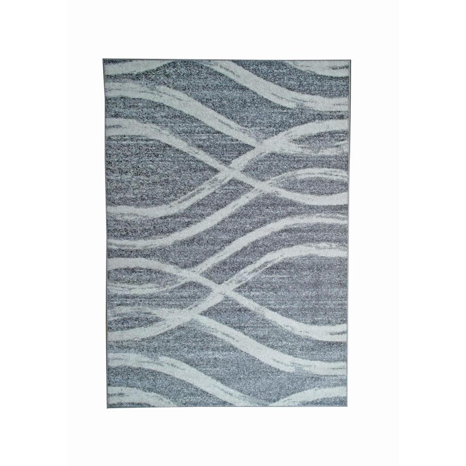 Vloerkleed Florence - grijs/wit - 200x290 cm