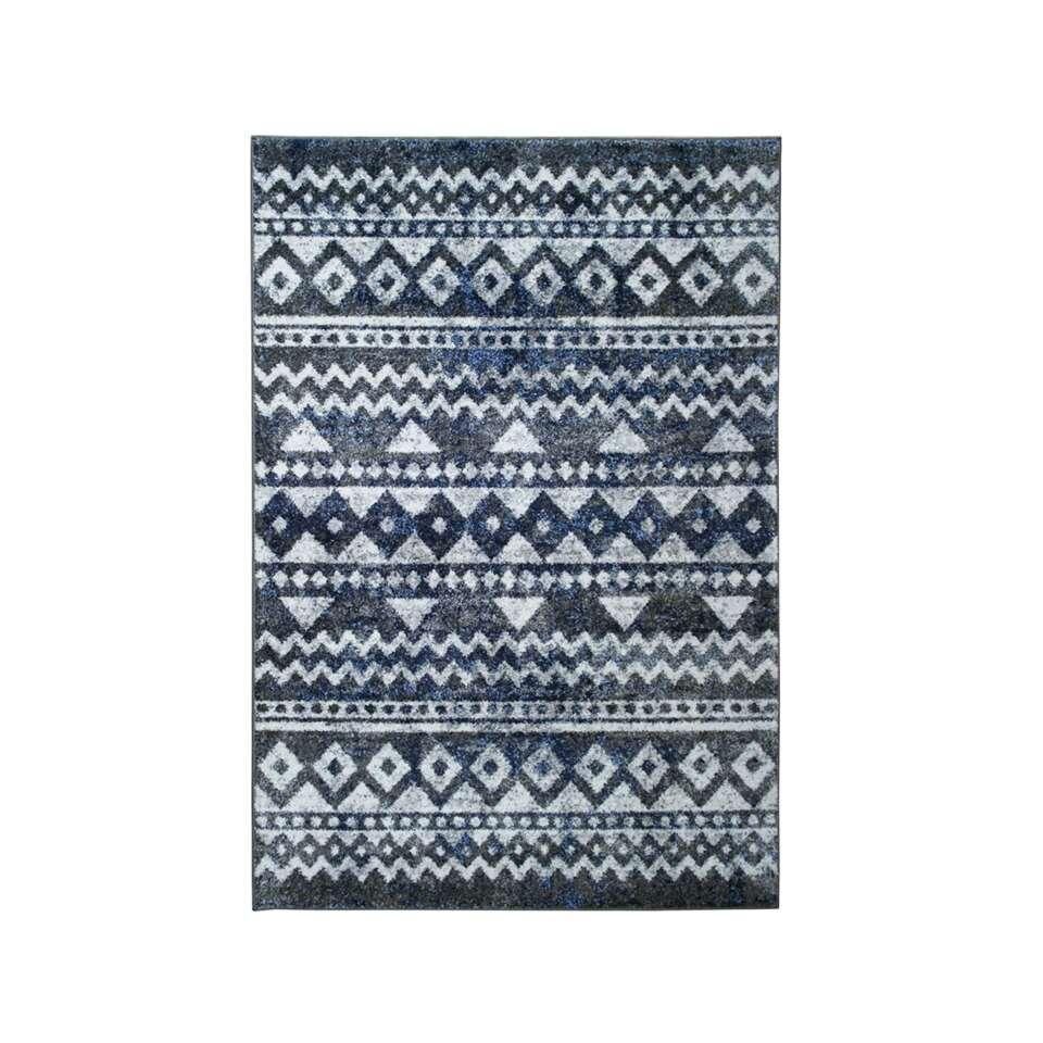 Vloerkleed Florence - blauw - 200x290 cm - Leen Bakker