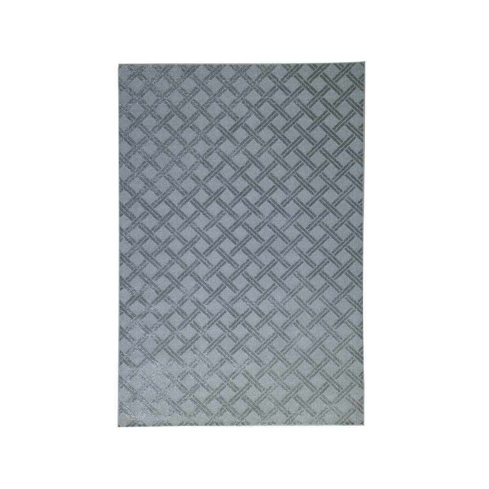 Vloerkleed Structura – grijs – 200×290 cm – Leen Bakker