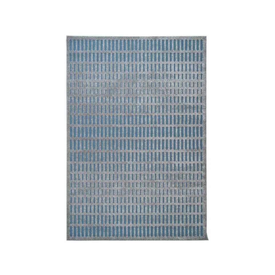 Vloerkleed Structura streep - grijs - 160x230 cm - Leen Bakker