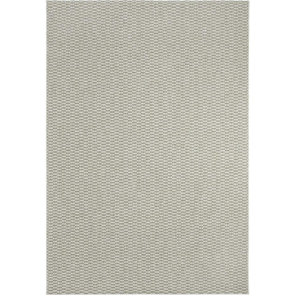 Vloerkleed Pavia in grijze uitvoering is een vlakgeweven binnen/buitentapijt. Trendy, tijdloos, duurzaam en met een afmeting van 160x230 cm.