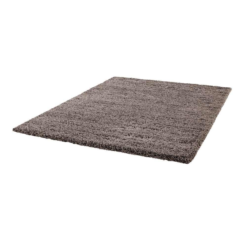Vloerkleed Norell Shaggy - grijs - 120x170 cm - Leen Bakker