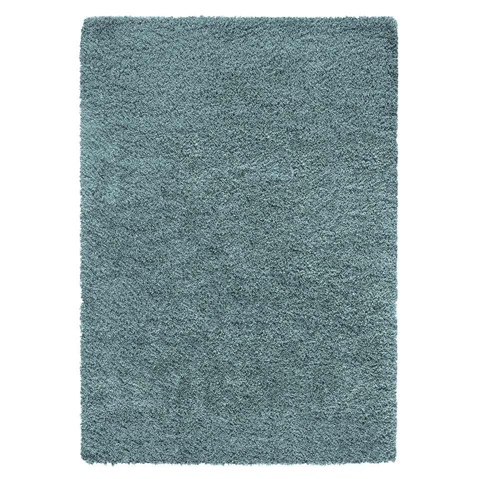 Vloerkleed Norell Shaggy – turquoise – 120×170 cm – Leen Bakker