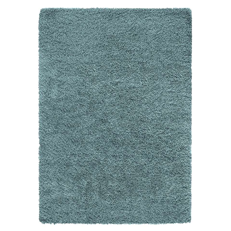 Vloerkleed Norell Shaggy – turquoise – 200×290 cm – Leen Bakker