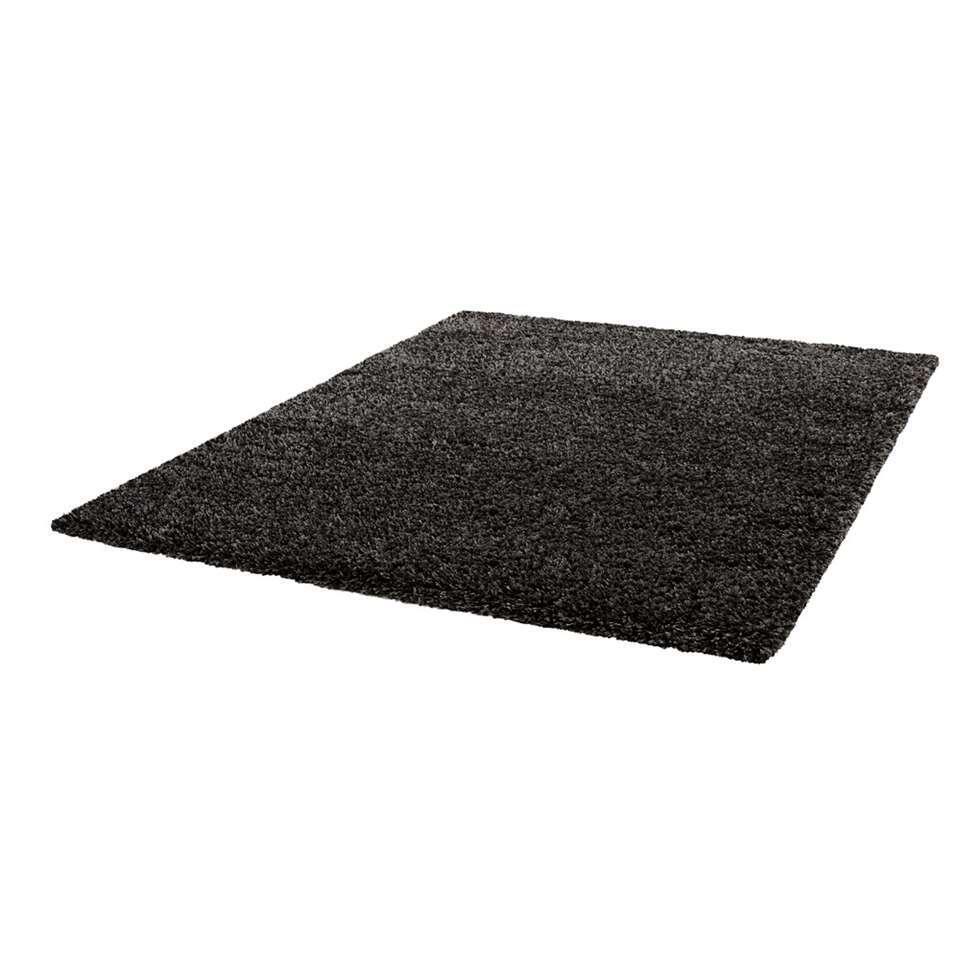 Vloerkleed Norell Shaggy – antraciet – 160×230 cm – Leen Bakker