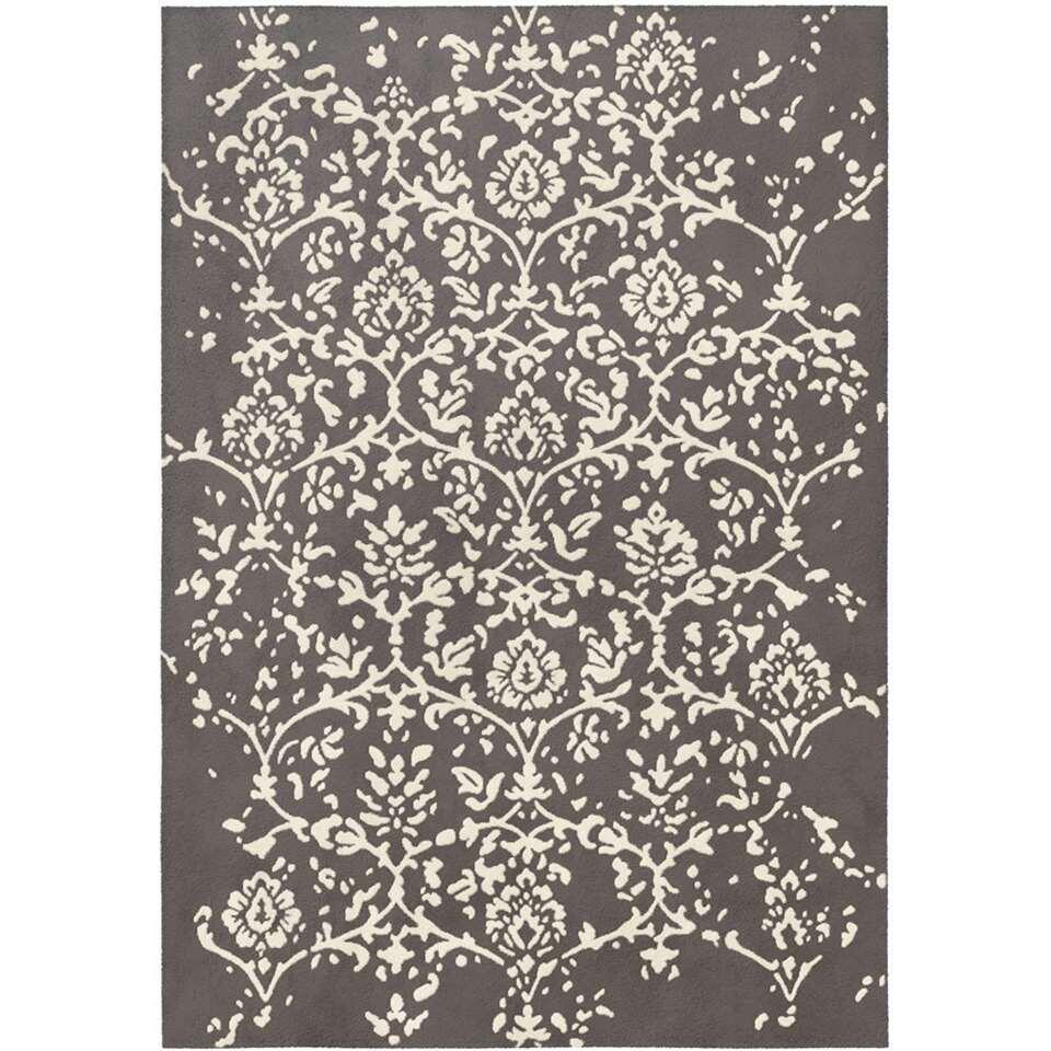 Vloerkleed Isadora - antraciet - 120x170 cm - Leen Bakker
